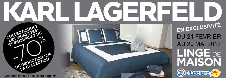 Leclerc saint aun s accueil - Linge de maison karl lagerfeld ...